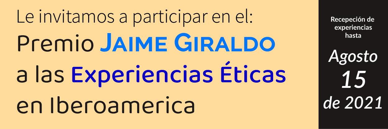 Le invitamos a participar en Nuestra convocatoria la premio Jaime Giraldo